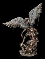 Large Archangel Michael Figurine - bronzed