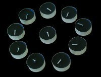Black Tealights 10 pcs