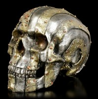 Skull in Metal Look - US Flag