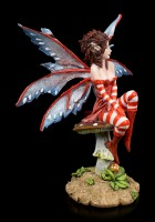 Elfen Figur - Rouge auf Pilz