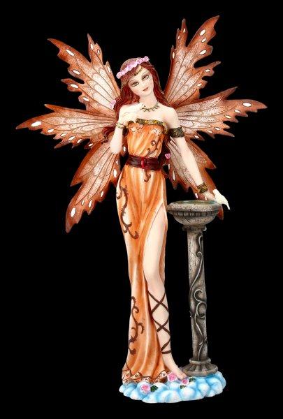 Elfen Figur - Miriam mit kleinem Vogel