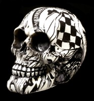 Colourfull Skull with Ornaments - Abstraction - small