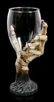 Wine Glass Skeleton Hand - The Last Toast