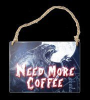 Alchemy Metal Sign small - Need more coffee