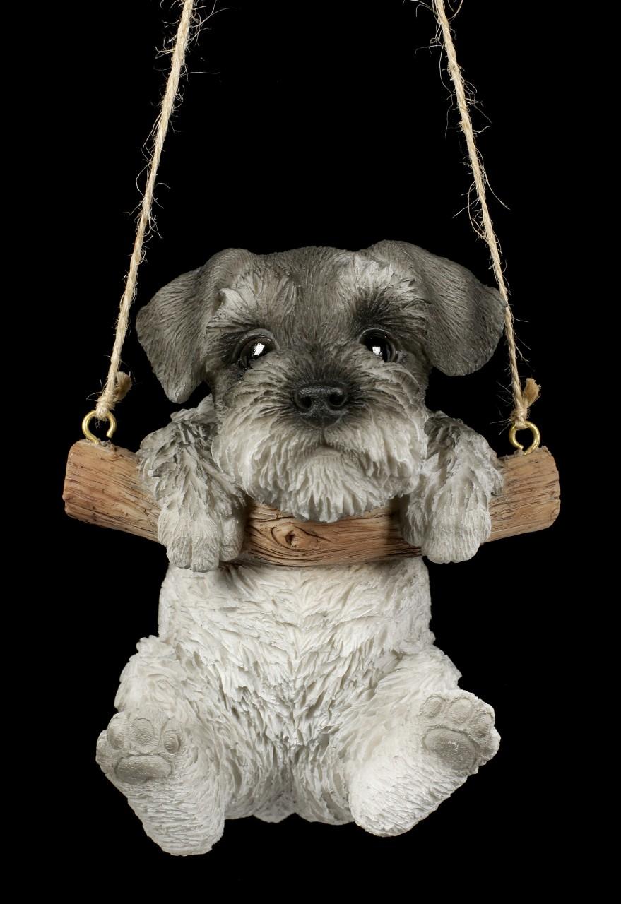 Hanging Dog Figurine - Schnauzer Puppy
