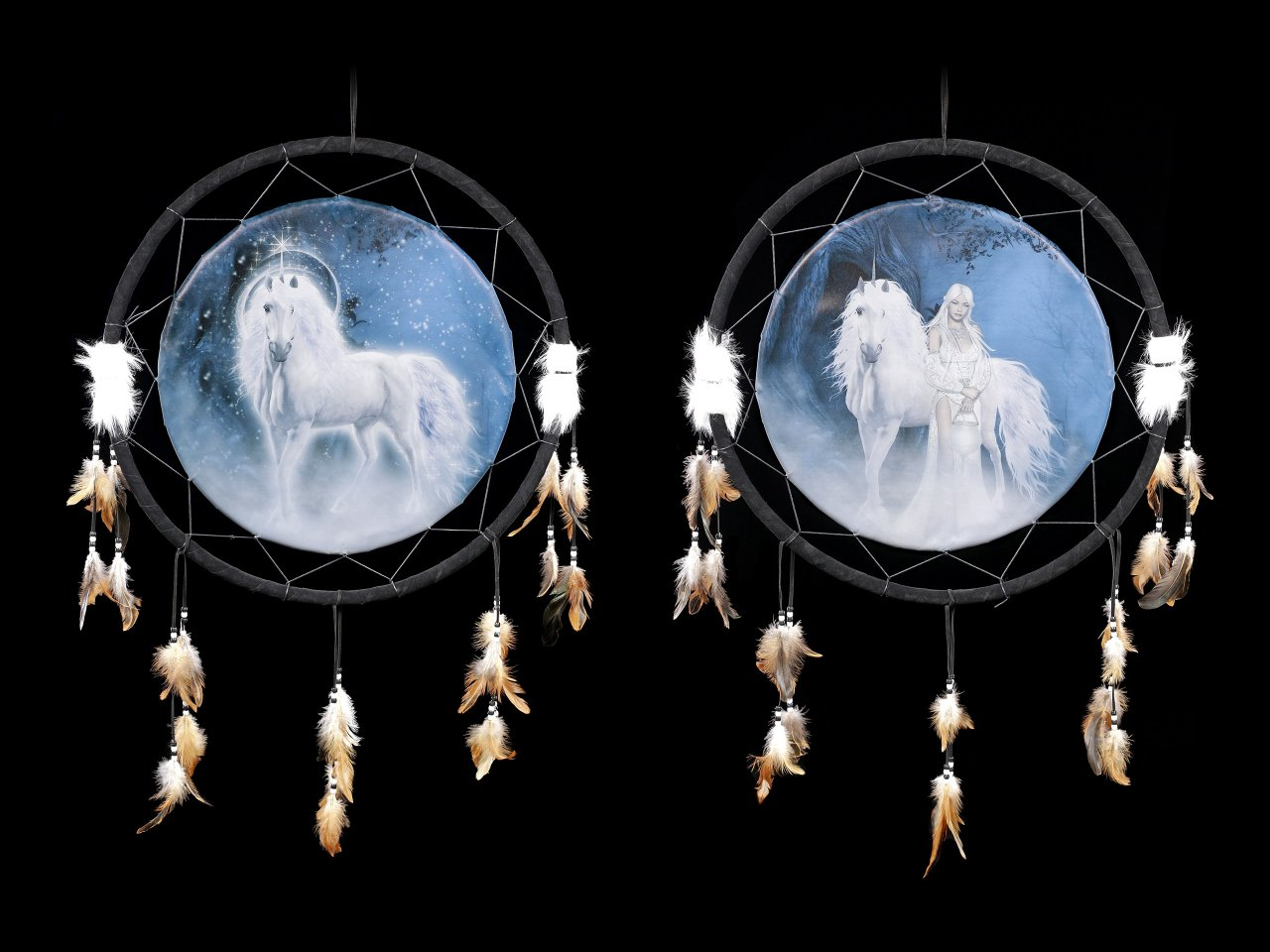 Large Dreamcatcher with Unicorns - Set of 2