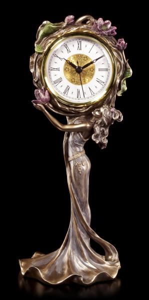 Jugendstil Uhr - Blumenfrau