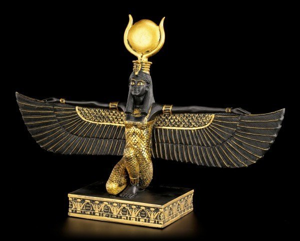 Egyptian Figurine - Isis - Black-Gold