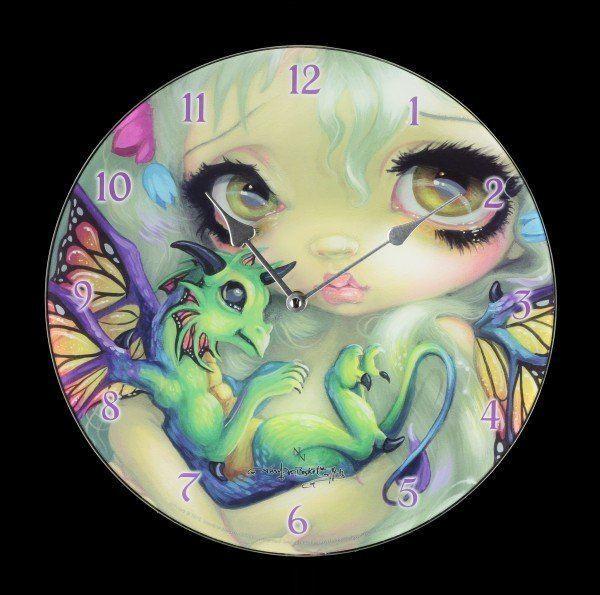 Glass Clock - Darling Dragonling
