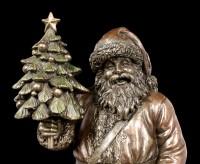 Nikolaus Figur - Weihnachtsmann mit Christbaum