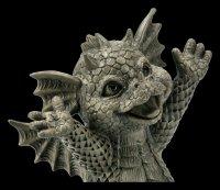 Small Garden Figurine - Happy Dragon