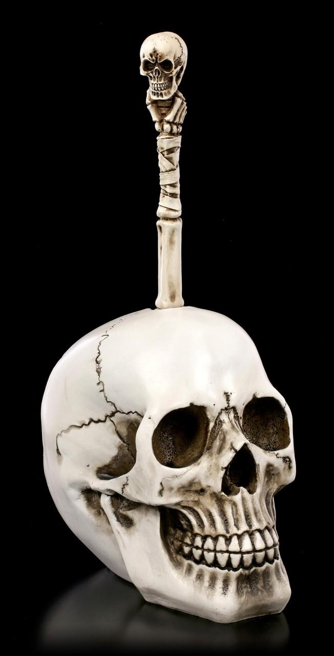 Skull Toilet Brush - Brain Wash