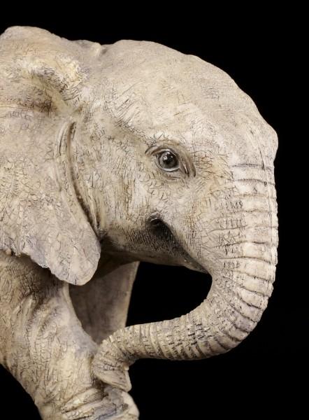 Gartenfigur - Baby Elefant laufend
