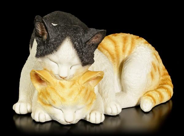 Katzen Figur - Kuschelnde Katzen