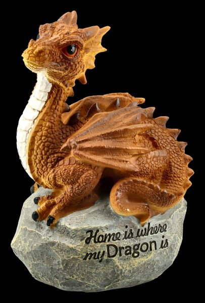 Drachen Figur - Home is where my dragon is