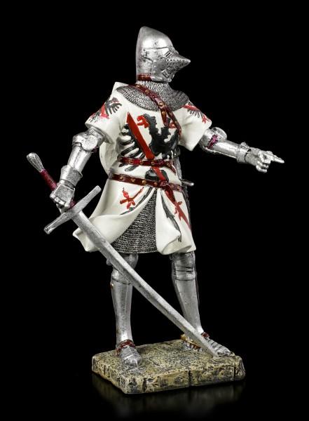 Deutsche Ritter Figur mit Beckenhaube