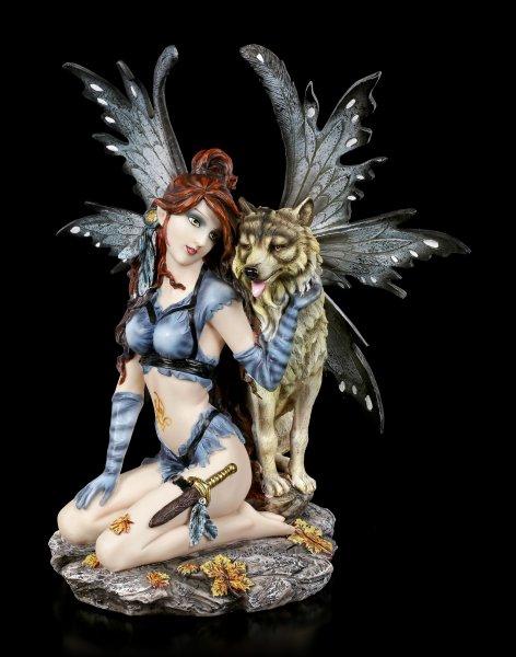 Fairy Figurine - Celeste and Wolf