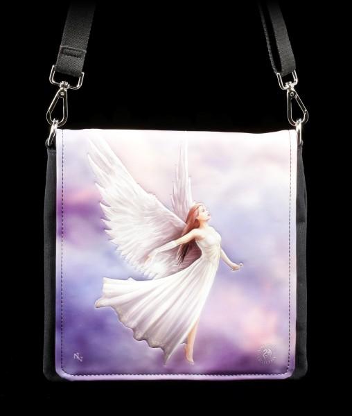 Shoulder Bag with Angel - Ascendance - embossed