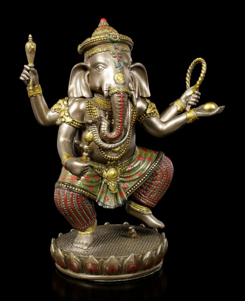 Buddha Figurine - Ganesha on Lotus