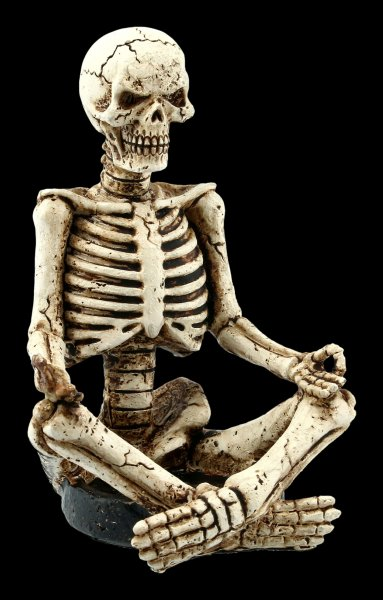 Yoga Skeleton Tealight Holder - Muktasana