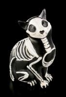 Schwarze Skelett Katzen Figur - Day of The Dead