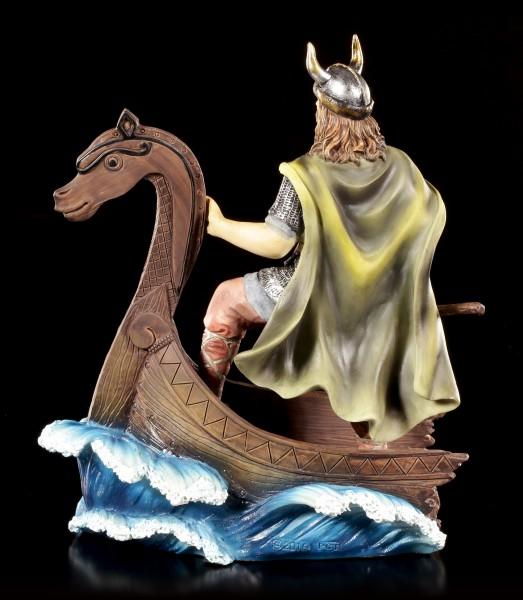 Wikinger Figur - Krieger auf Schiff