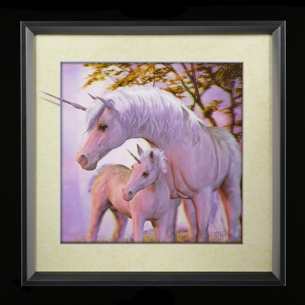 5D Picture with Frame - Unicorn Family