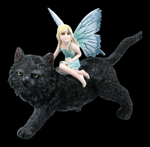 Fairy Figurine on Cat - Feline Freedom