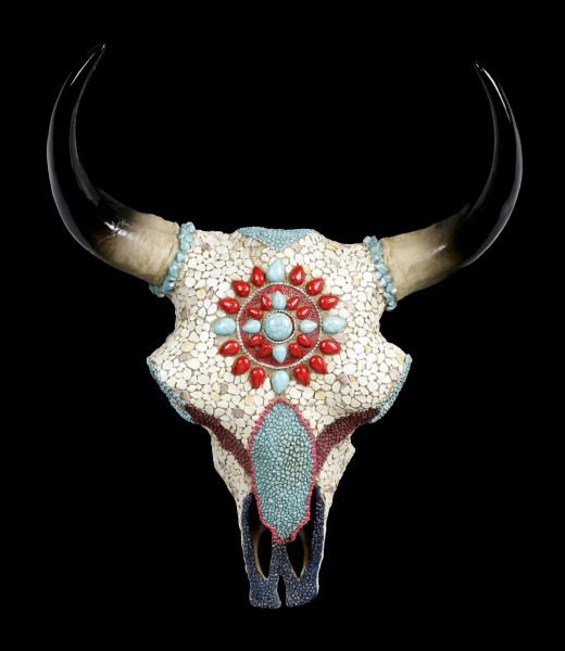 Wall Plaque Bull Skull - Native American