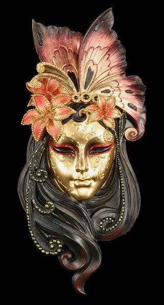 Venezianische Maske - Liliana bunt