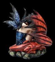 Large Fairy Figurine Guarded by Red Dragon