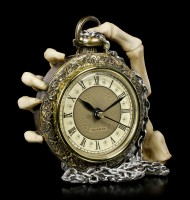 Table Clock Skeleton Hand - About Time