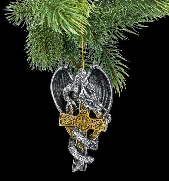 Christmas Tree Ornament - Dragon on Cross
