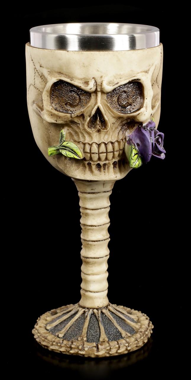 Totenkopf Kelch - Rose from the Dead - lila