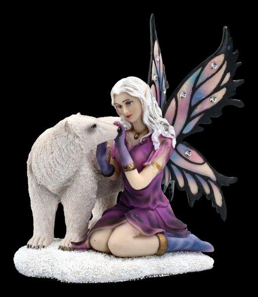 Elfen Figur mit Schmucksteinen - Eria mit Eisbär