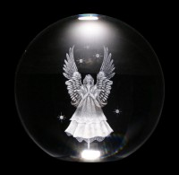 Chrystal Ball with Angel - 8 cm