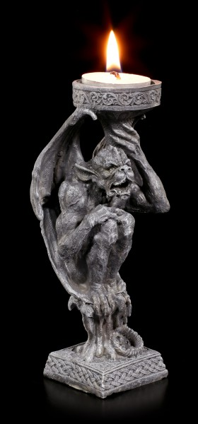 Gargoyle Tealight Holder - Fight of Darkness