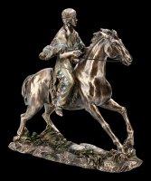 Indianerin Figur reitend auf Pferd