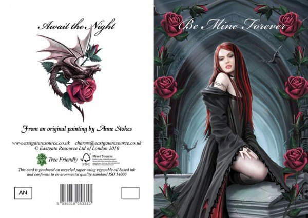 Fantasy Valentine Card - Await the Night