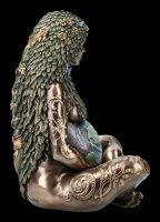 Himmlische Gaia Figur - Mutter Erde - groß bronziert