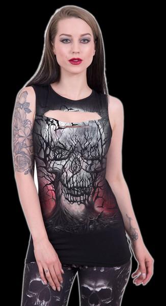 Dark Roots - Women Top with Skull