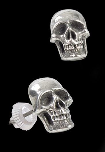Mortaurium - Alchemy Skull Earrings