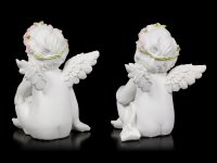Angel Figurines - Thinking Cherubs - Set of 2