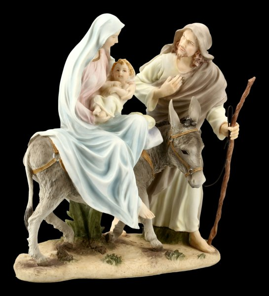 Mary, Joseph and Jesus Figurine - Holy Family colored