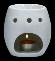 Duftlampe - Weißer Keramik Totenkopf