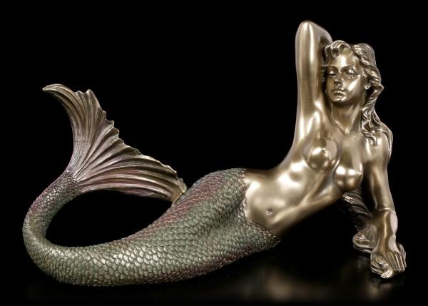 Liegende Meerjungfrau Figur