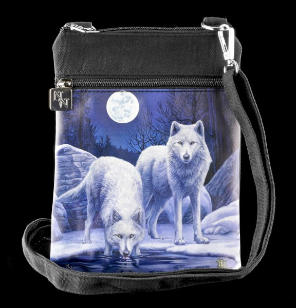 Small Shoulder Bag with Wolves - Warriors of Winter