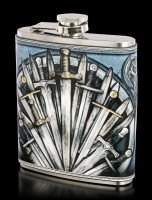 Hip Flask with Swords