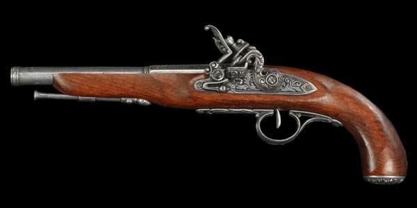 Steinschloßpistole - Linkshänder