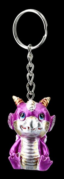 Schlüsselanhänger - Niedlicher Drache - pink